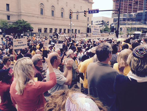 Hundreds of religious people rally at Cleveland City Hall, May 26