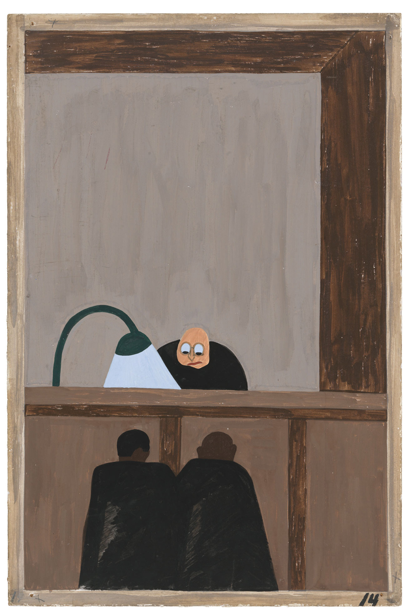"Jacob Lawrence ""One-Way Ticket: Jacob Lawrence's Migration Series and Other Visions of the Great Movement North""—Panel 14"