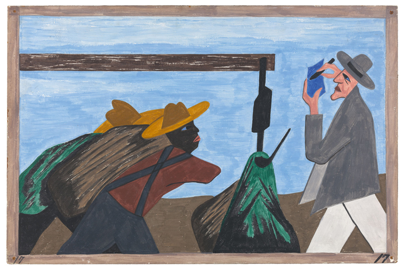 "Jacob Lawrence ""One-Way Ticket: Jacob Lawrence's Migration Series and Other Visions of the Great Movement North""—Panel 17"