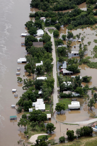 A residential area near the Brazos River, May 29