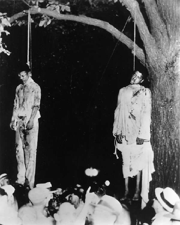 Two African American men lynched in Marion, Indiana, 1930.