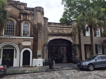 Charleston, museum where former slave market stood