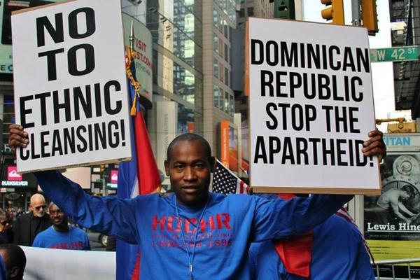 Protest against the Dominican Republic's threat to deport Haitians