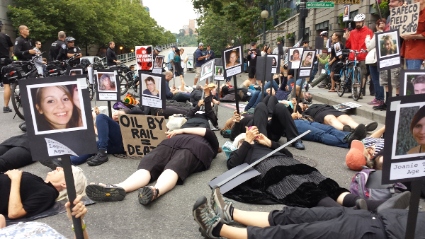 Seattle, July 11 protest anniversary of Lac-Megantic oil train explosion
