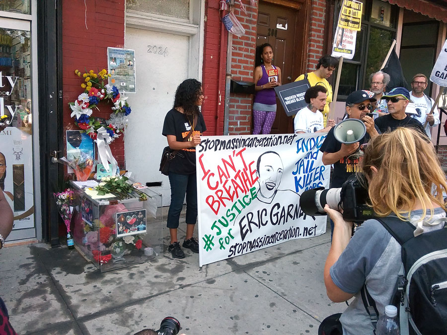 Staten Island rally at place where Eric Garner was killed by NYC police