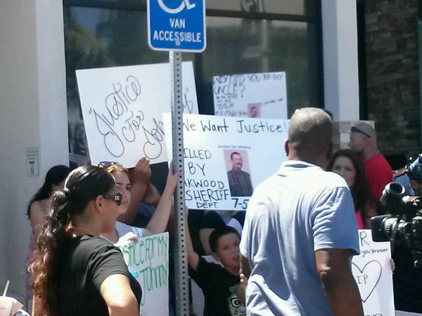 Protest of murder of Johnny Anderson