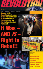 Revolution #398, August 3, 2015 - front page