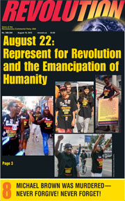 Revolution #399, August 10, 2015 - front page