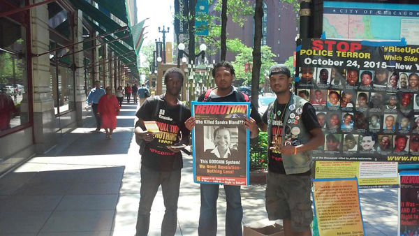 RiseUpOctober Tour, downtown Chicago.
