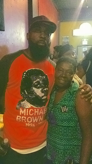 Mertilla Jones and Michael Brown, Sr. August 9 at Ferguson Is Everywhere show