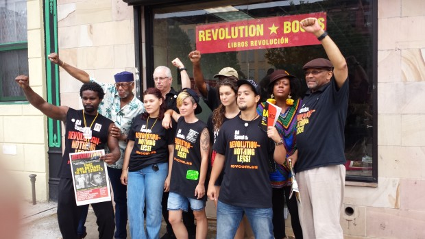 Press conference to reopen Revolution Books