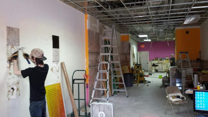 Volunteers are renovating the store