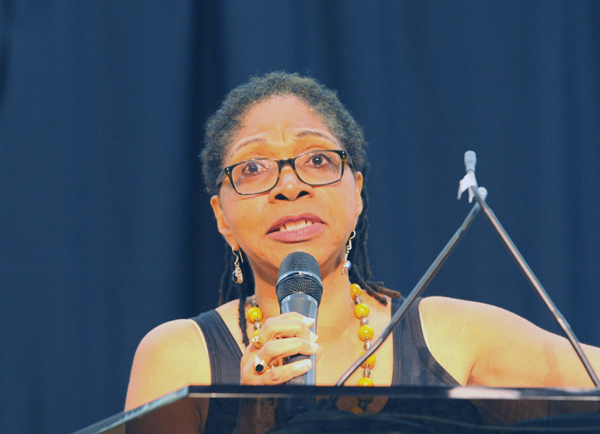 Marsha Coleman-Adebayo, a former senior policy analyst for, and whistle-blower on the United States Environmental Protection Agency (EPA) and activist with the DC Hands Up Coalition