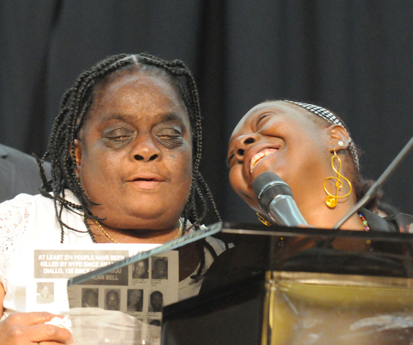 Juanita Young, mother of Malcolm Ferguson murdered by NYC police in 2000; Mertilla Jones, grandmother of 7-year-old Aiyana Stanley-Jones, murdered in front of her eyes by Detroit police in 2010