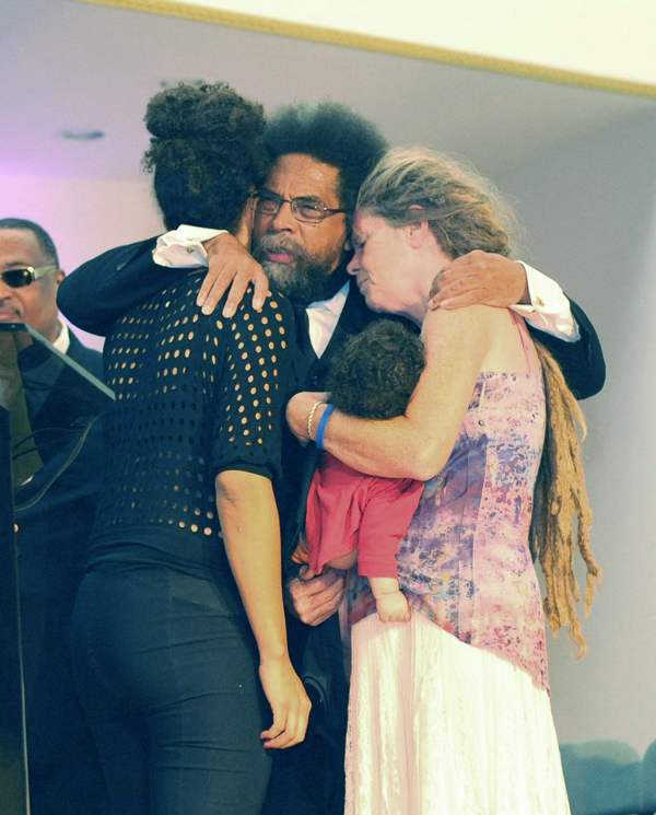 Dr. Cornel West and fammilies of Stolen Lives