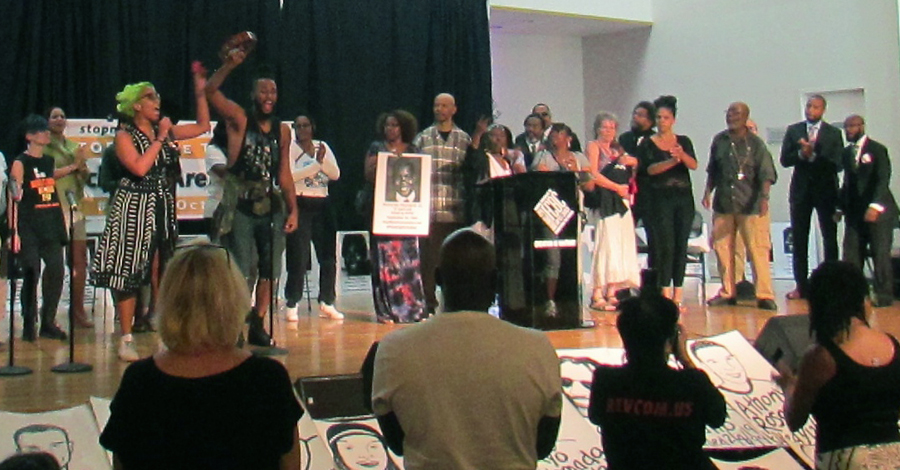 Family members of stolen lives and others at RiseUpOctober event, August 27