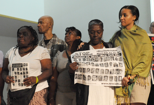 Family members of some of the people whose lives were stolen by police.