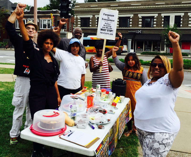 Bake sale in Ferguson to raise funds to send fighters to New York City for #RiseUpOctober