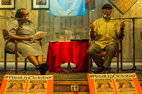 Carl Dix in conversation with civil rights attorney Rochelle Fortier Nwadibia