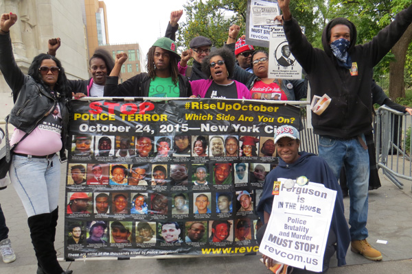Contingent from Ferguson at Rise Up October