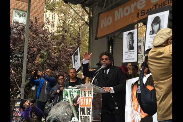 Cornel West speaking at Washington Square Park