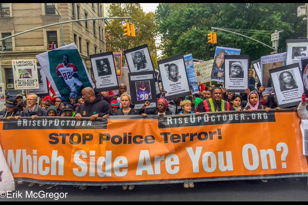 Rise Up October, October 24, 2015, New York City, The front of the march