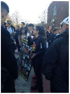 Sunsara Taylor with revcoms and students at Mizzou