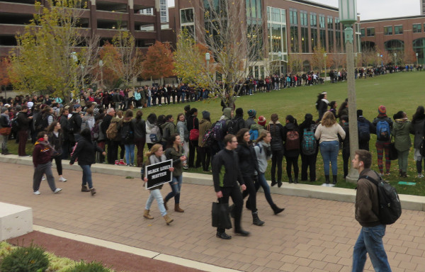 Loyola University, November 12, protest in solidarity with Missouri University