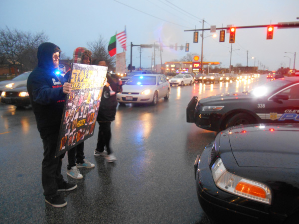 Cleveland protest, 1 year after Tamir Rice was killed by police