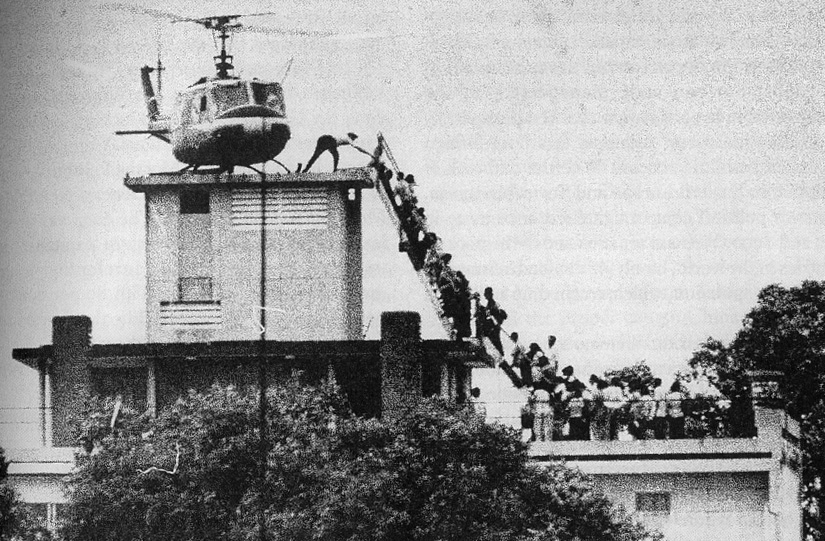 U.S. forces being evacuated from Saigon by the CIA, 1975