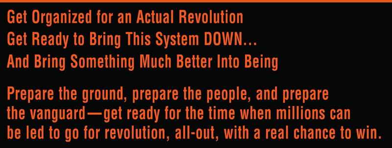 Get organzied for an actual revolution