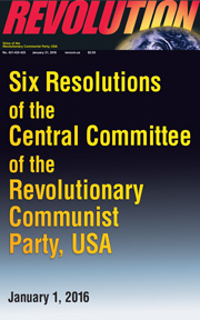 Revolution #423, January 25, 2016 - front page