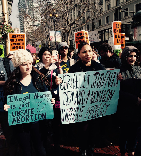 Two hundred people, overwhelmingly youth, confronted the anti-abortion march in San Francisco.