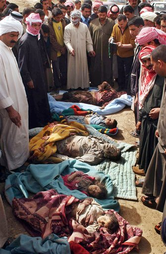 People killed during a U.S. raid in Iraq, 2006