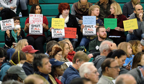 Public hearing about Porter Ranch gas leak