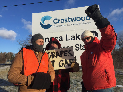 Seneca Lake solidarity with people of Porter Ranch