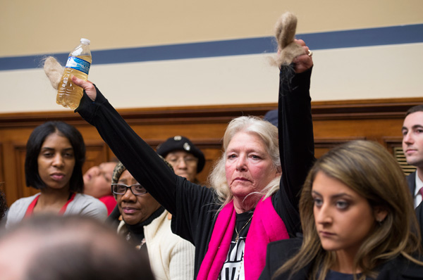 Flint, Michigan residents on Capitol Hill in Washington D.C., at a House Oversight and Government Reform Committee hearing about the water in Flint.
