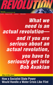Revolution #426, February 15, 2016 - front page