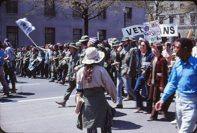 Protest against the Vietnam War, Washington, D.C., April 24, 1971. Photo: Leena Krohn via Wikimedia Commons