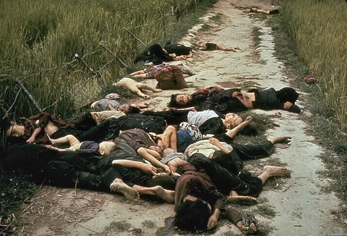 Villagers massacred by U.S. Army troops at My Lai in Vietnam, March 16, 1968.