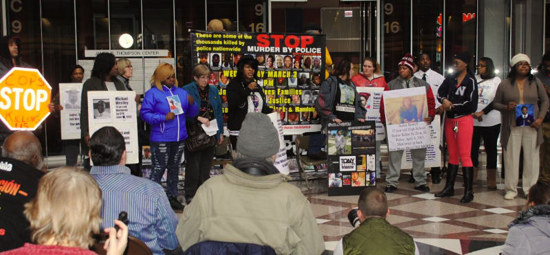 Chicago, Stolen Lives Families Demand Justice. March 2