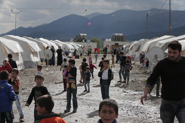 Syrian refugees in a Turkish government-run camp.