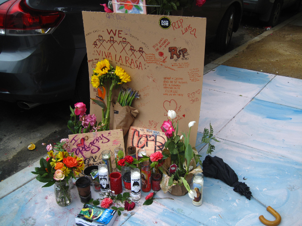 Memorial for Luis Gongora, killed by police in San Francisco