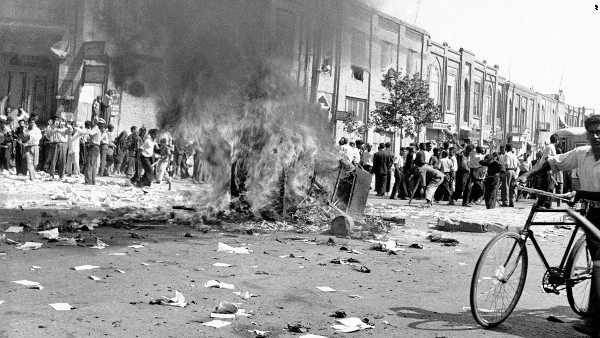 In Tehran, Iran on August 19, 1953, mobs joined by the military took over streets chanting