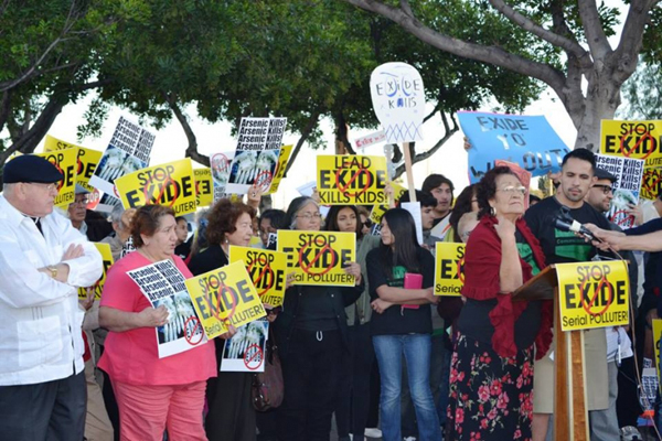 Protesters call Exide Technologies serial polluters, June 1