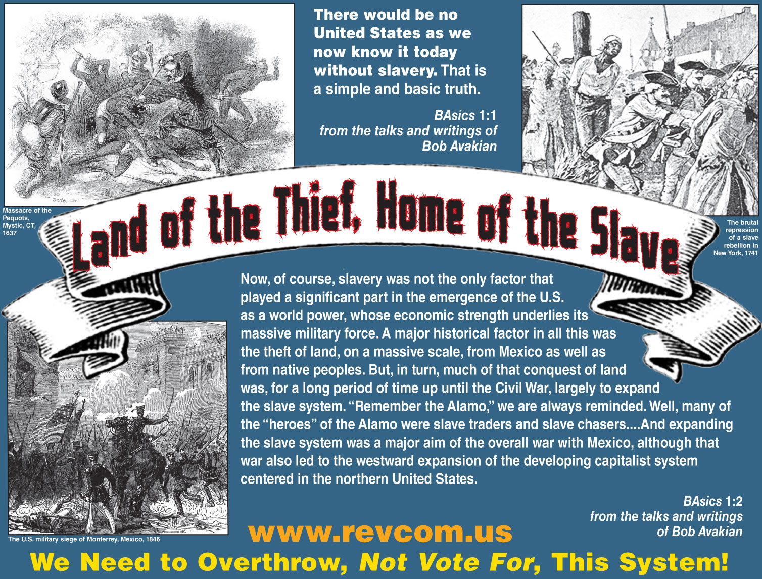 """Get the """"Land of the Thief, Home of the Slave"""" Poster Out"""
