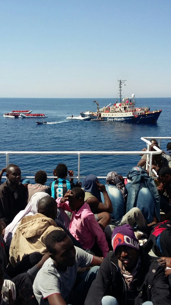 In one day in June, 1,000 refugees trying to cross the Mediterranean Sea in unsafe dinghys to reach Europe were rescued at sea by Médecins Sans Frontières (Doctors Without Borders) and Sea Watch humanitarian groups.