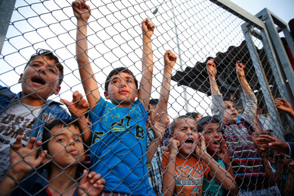 At a Syrian refugee camp in southeastern Turkey, April 2016. AP photo