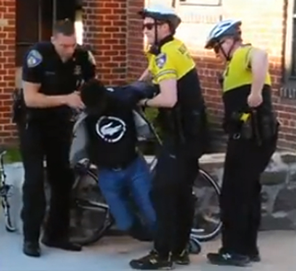 The arrest of Freddie Gray