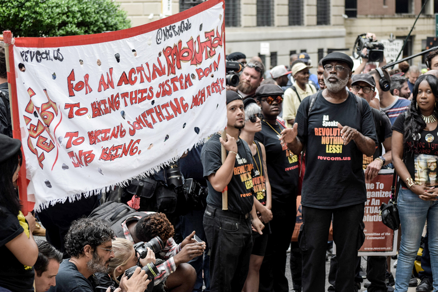 Carl Dix and the Revolution Club at the Baltimore courthouse